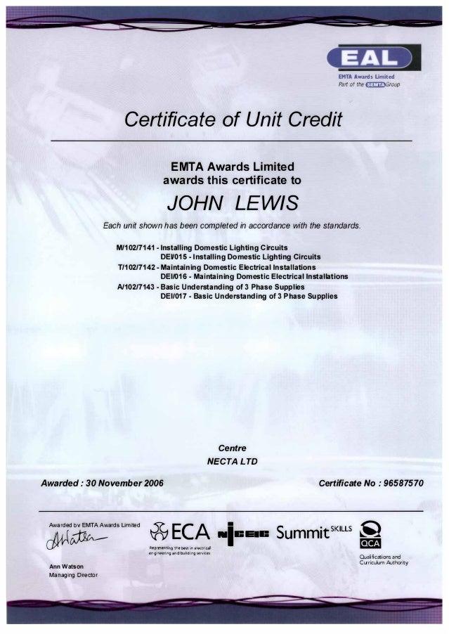 2006 11 Eal Intermediate Certificate For Domestic