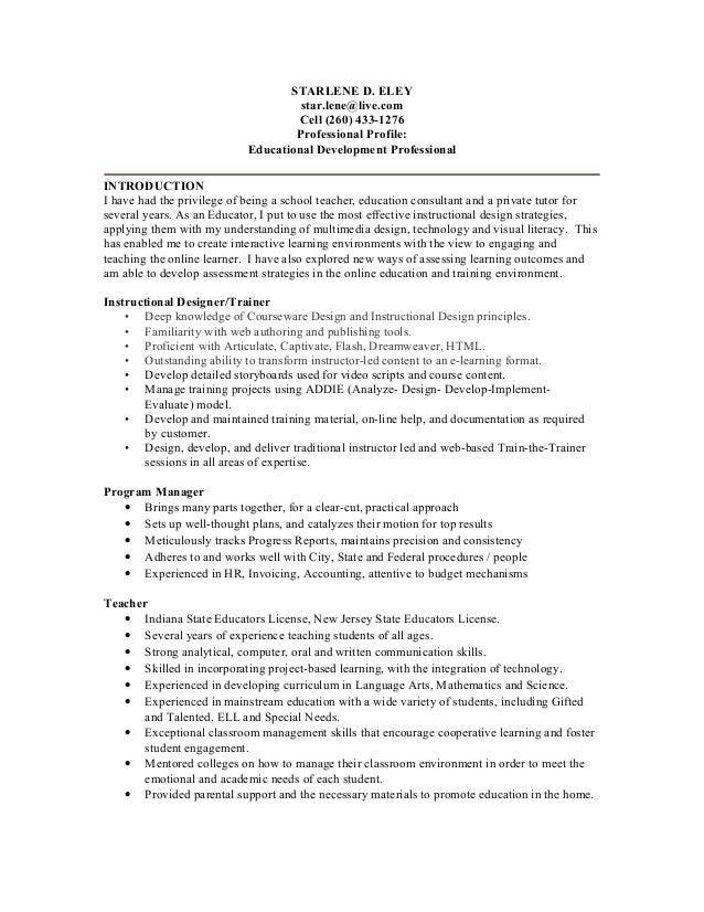 Nice STARLENE D. ELEY Star.lene@live.com Cell (260) 433 ... Inside Star Resume