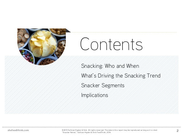 How Snacking Fits Into Consumers' Daily Lives Slide 2
