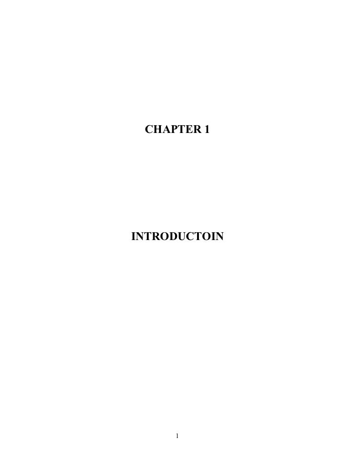 CHAPTER 1INTRODUCTOIN     1