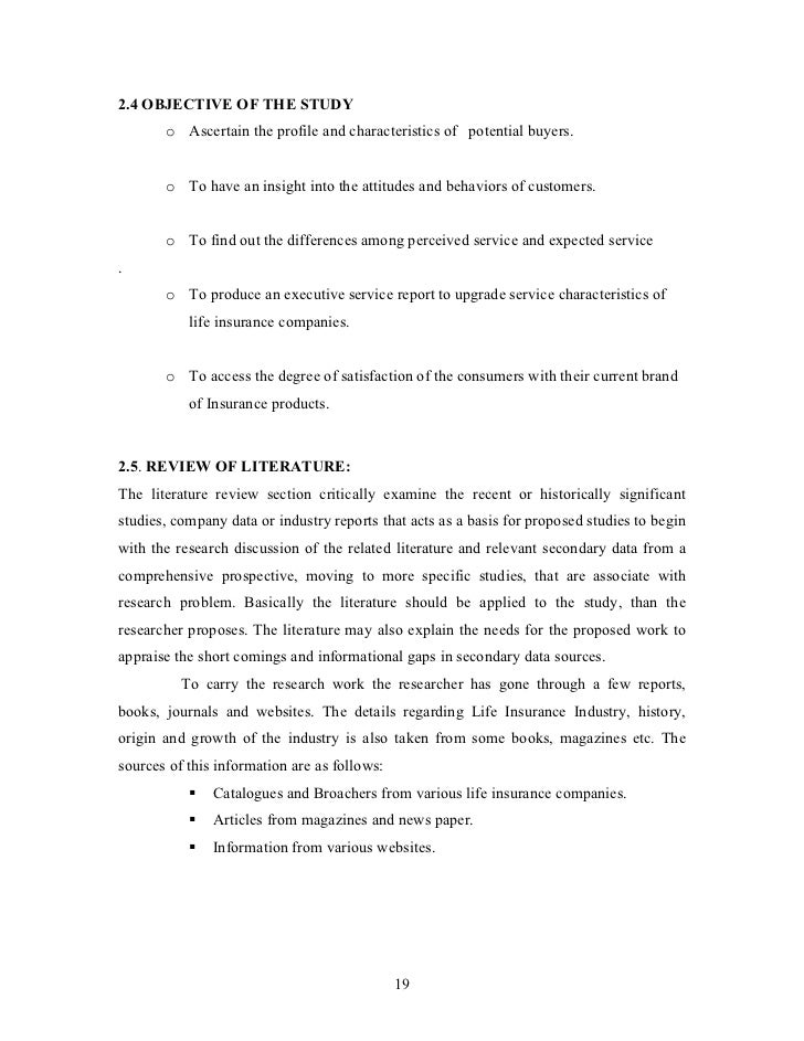 literature review on insurance industry