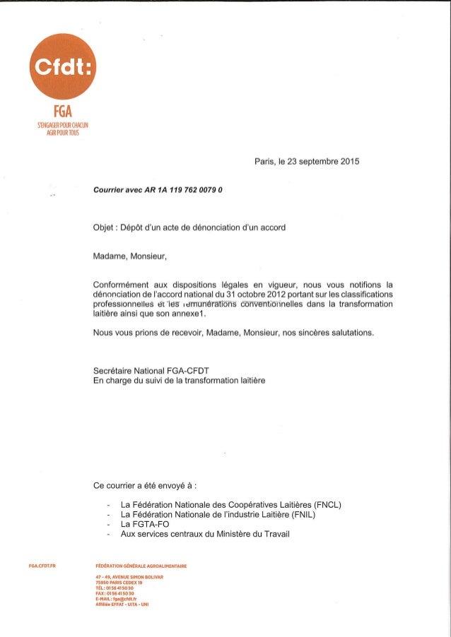 IDCC 112 et 7004 : dénonciation par la cfdt fga de l'accord du 31-10-2012 sur les classifications