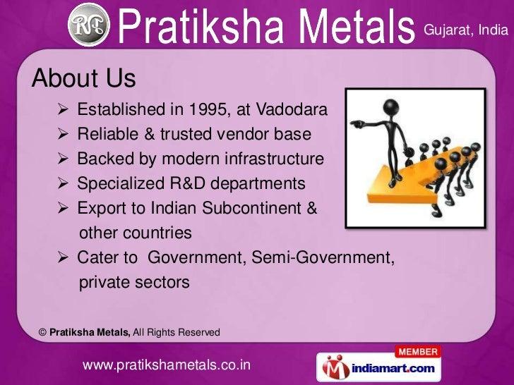 Industrial Products by Pratiksha Metals Vadodara Slide 2