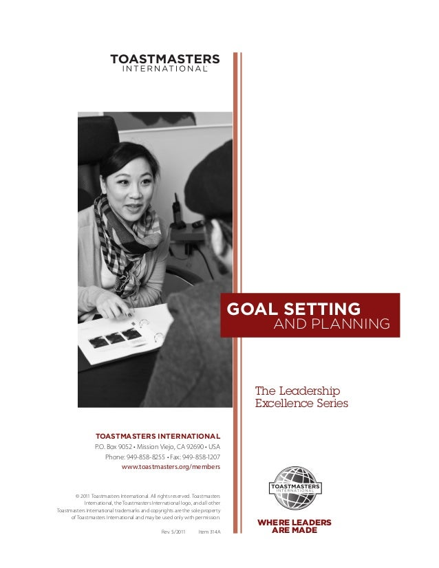 GOAL SETTING                                                                                     AND PLANNING             ...