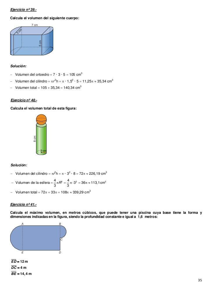31509945 ejercicios de poliedros for Calcular volumen piscina