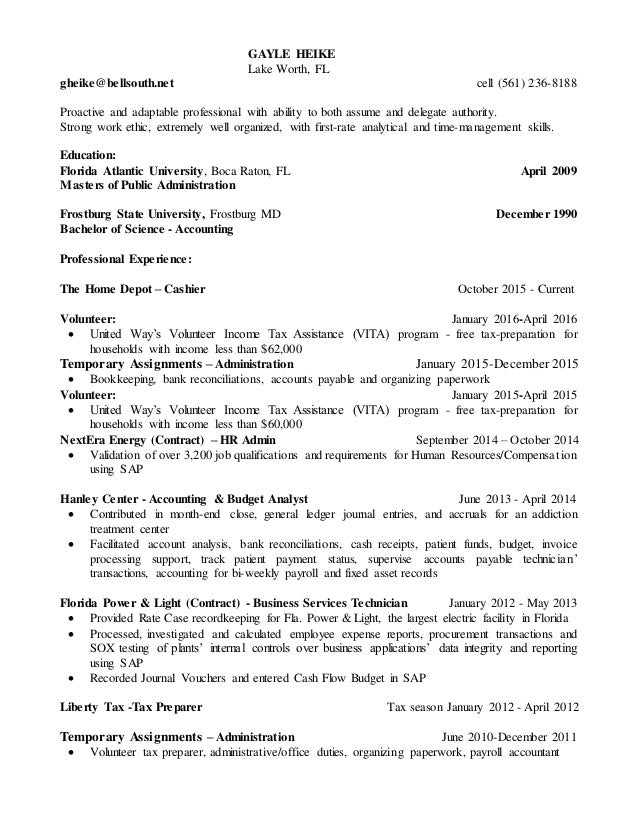 Accountant Analyst Resume 2017