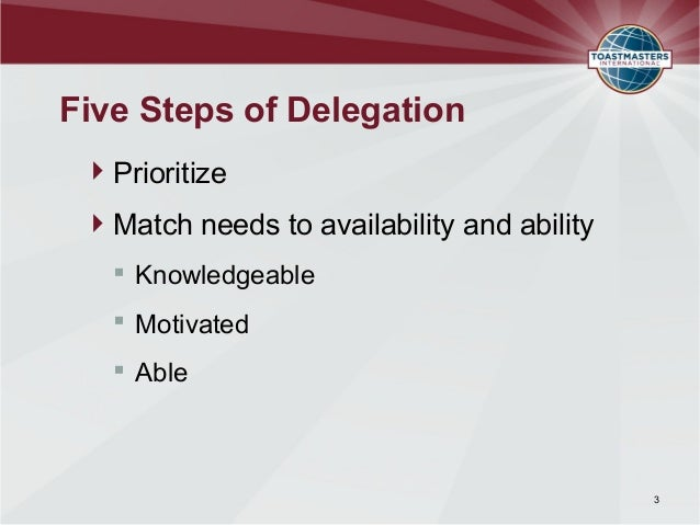 empowering and delegating essay Delegation and empowerment are both very useful management tools and  in  summary, both of these management tools require basic principles such as.