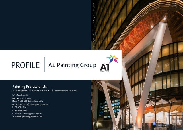 PROFILE Painting Professionals A1 Painting Group 3/79 Penshurst St Penshurst,  ...
