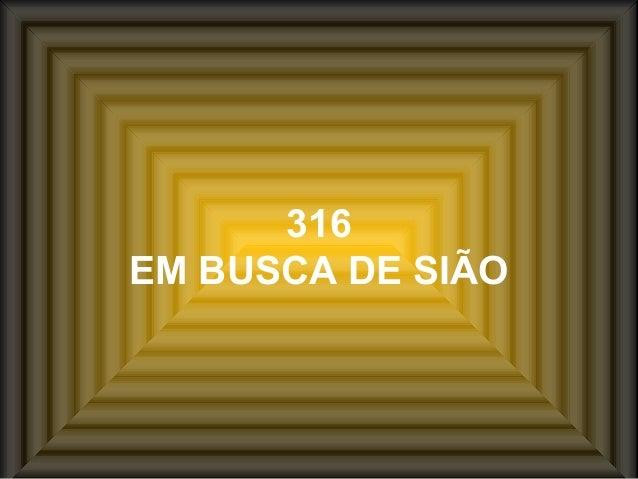316 EM BUSCA DE SIÃO
