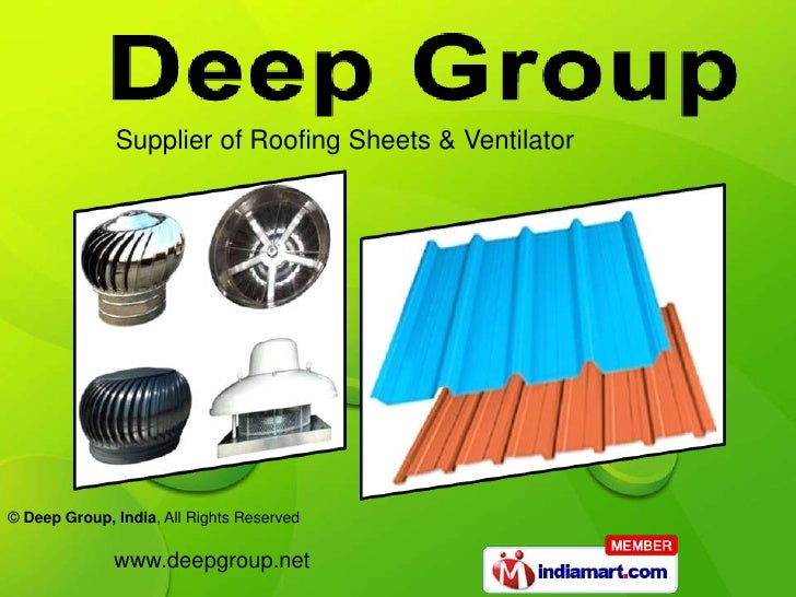 Supplier of Roofing Sheets & Ventilator<br />