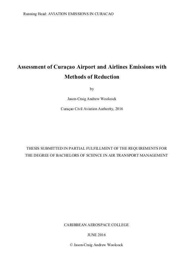 Airline airport management dissertation