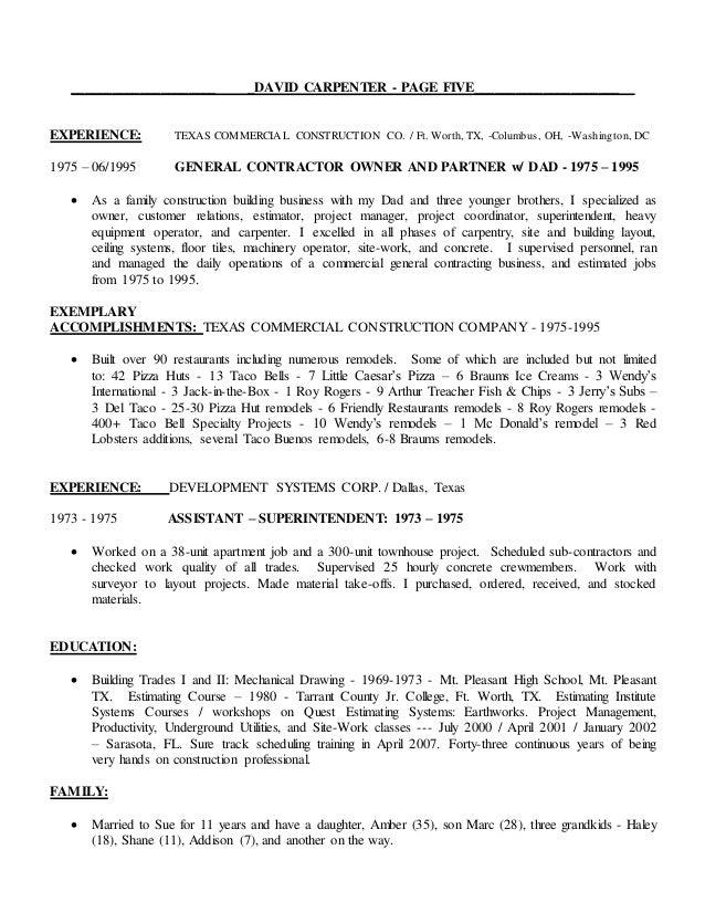 David Carpenter Resume and Cover Letter 081116