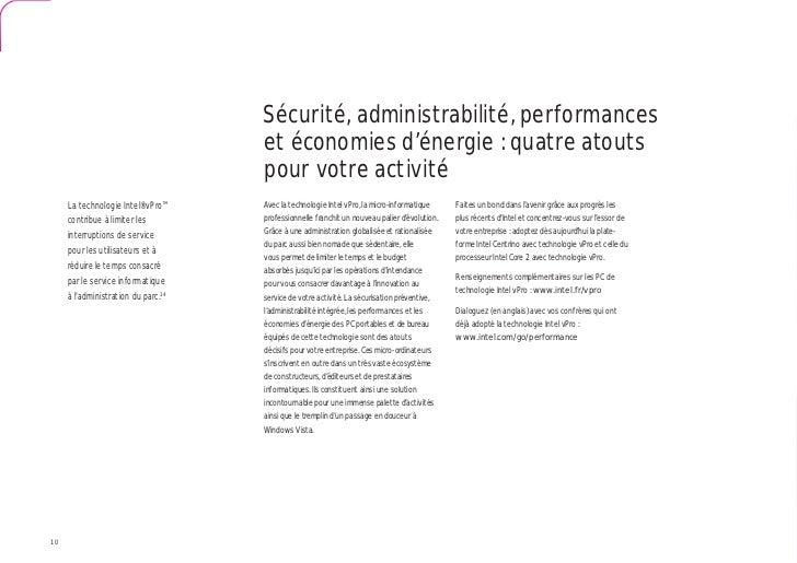 Sécurité, administrabilité, performances                                     et économies d'énergie : quatre atouts       ...