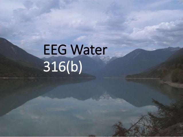 EEG Water 316(b)