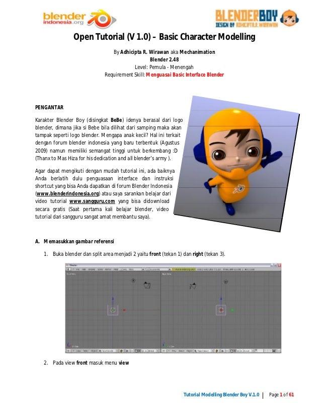Tutorial 3d Character Modelling Blender Boy With Blender 2 49