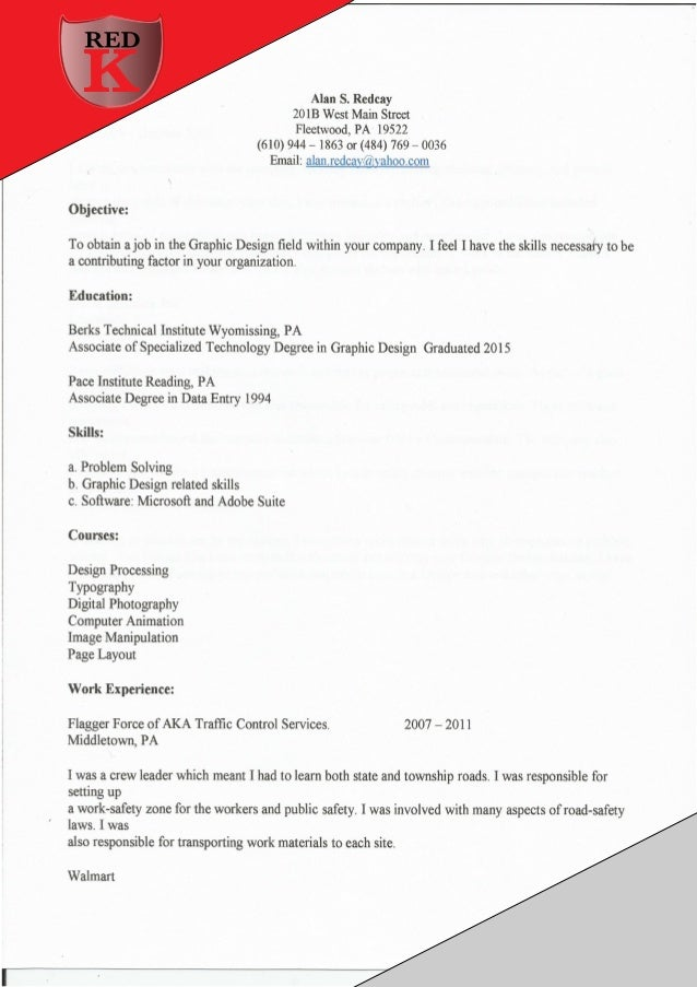 front page resume