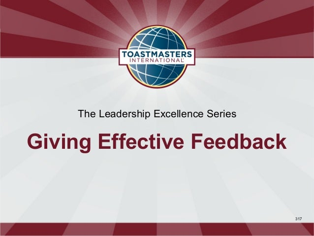 The Leadership Excellence SeriesGiving Effective Feedback                                       317
