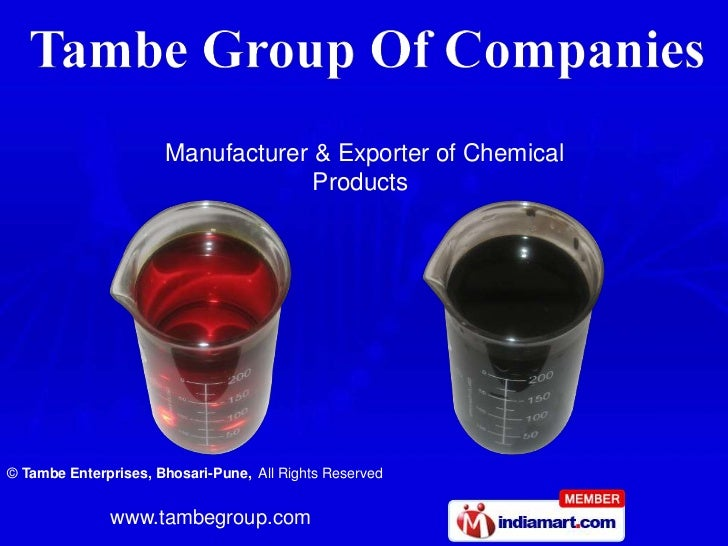 Manufacturer & Exporter of Chemical      <br />                     Products<br />