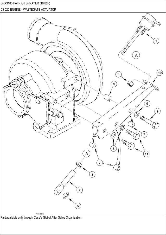 CASE SPX 3185 Patriot sprayer parts catalog