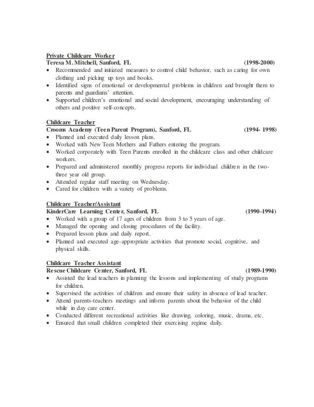 Preschool Teacher Resume Objective Examples Resume Samples Carpinteria  Rural Friedrich Lead Teacher Resume Lead Teacher Resume  Child Care Teacher Resume