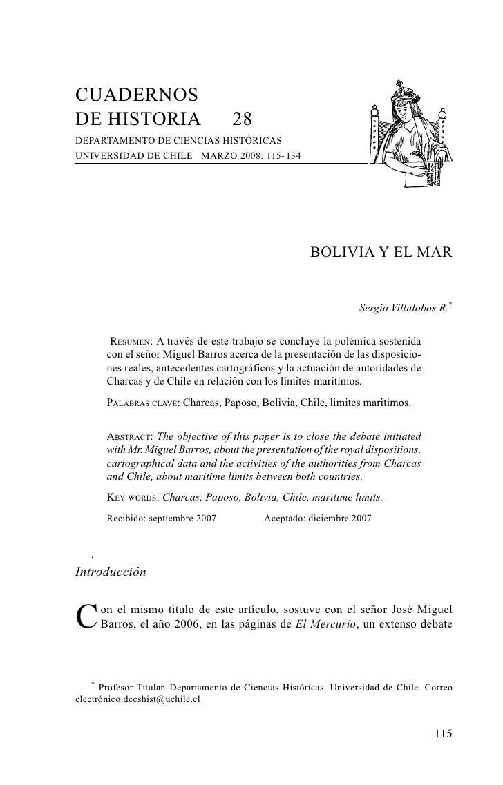 CUADERNOSDE HISTORIA                          28DEPARTAMENTO DE CIENCIAS HISTÓRICASUNIVERSIDAD DE CHILE MARZO 2008: 115- 1...