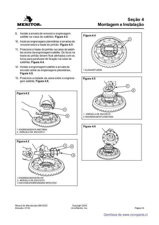 Manual do Diferencial Meritor MS113