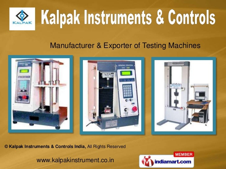 Manufacturer & Exporter of Testing Machines<br />