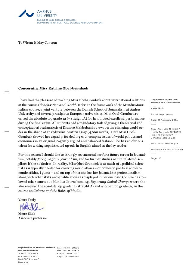 recommendation letter for dental student from professor