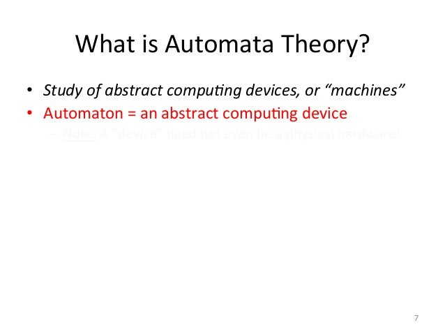 Ppt cse202: introduction to formal languages and automata theory.