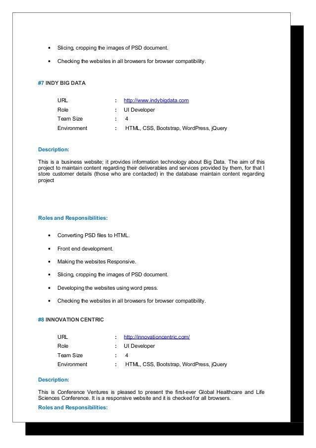 ASHOK KUMAR UI Developer Resume