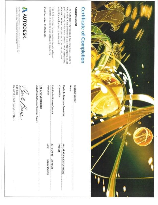Autodesk Certificates