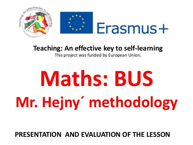 31 BUS - Preparation and evaluation of the math lesson