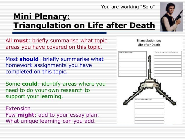 "powerpoint christian life after death you are working ""solo"" 6 mini plenary triangulation on life after death"