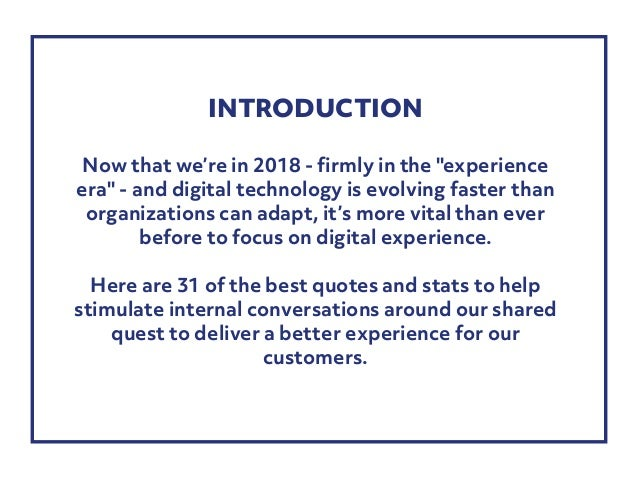 31 CX stats and quotes for 2018 Slide 2