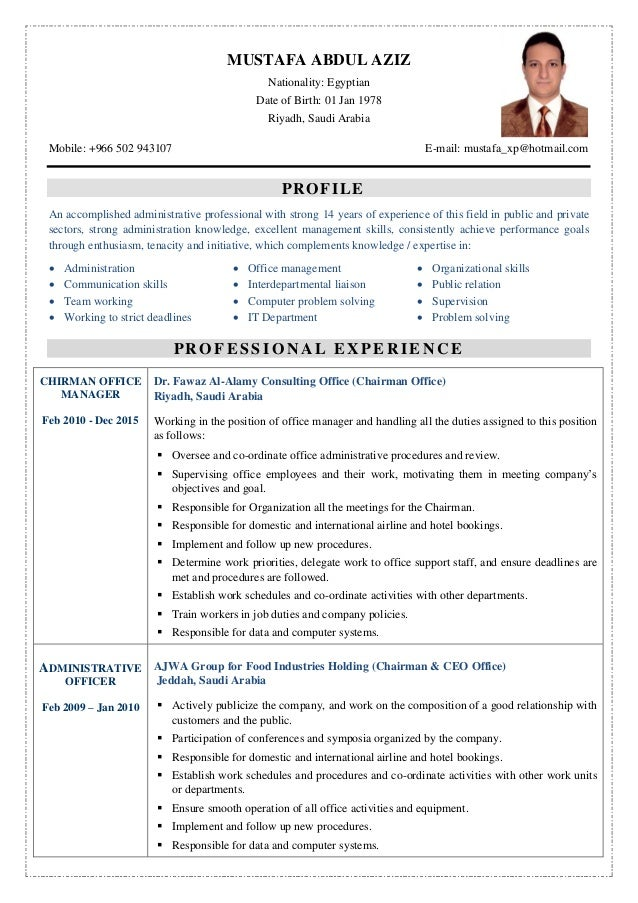 mustafa  english cv   arabic cv   exp  certificate