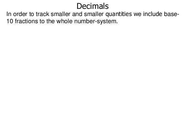 31 decimals, addition and subtraction of decimals