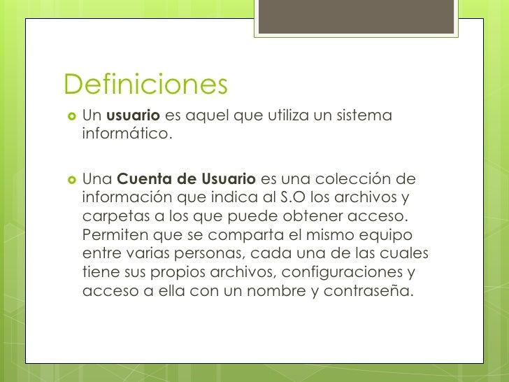 Definici n de cuentas de usuario for Que es una pagina virtual