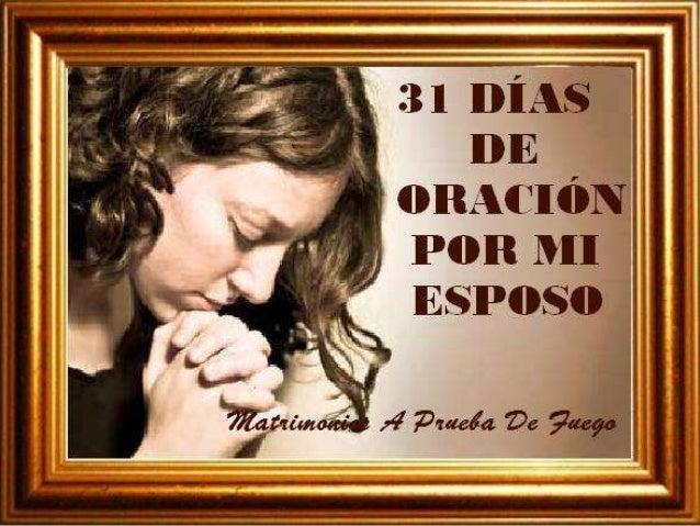 31 dias de oracion por mi esposo