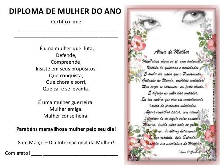 31 diplomas para o dia das mulheres de simone hdi Slide 3
