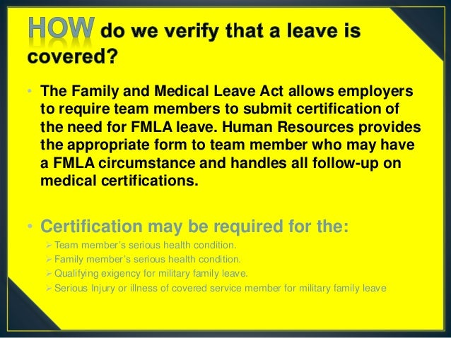 Family Medical Leave Act Fmla