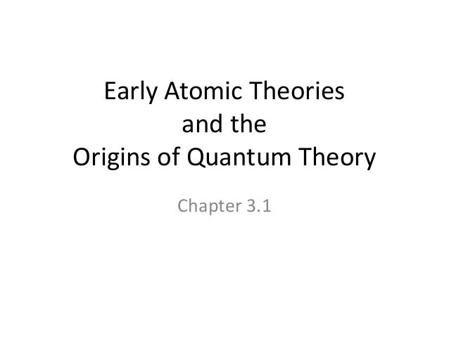 early atomic theories Describe the particle theory of matter  the history of atomic theory  in the  early 1800s, the english chemist john dalton performed a number of  experiments.