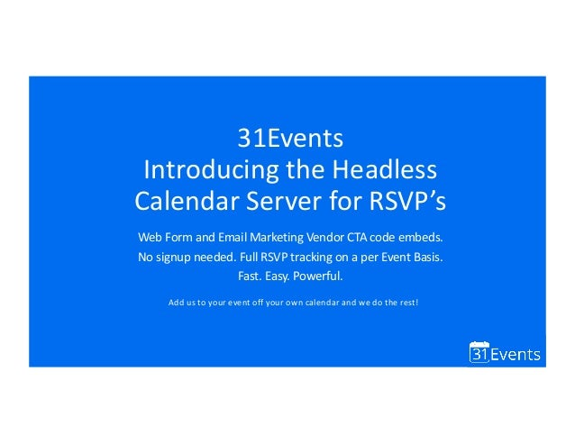 introducing the headless calendar server for rsvp tracking update 20