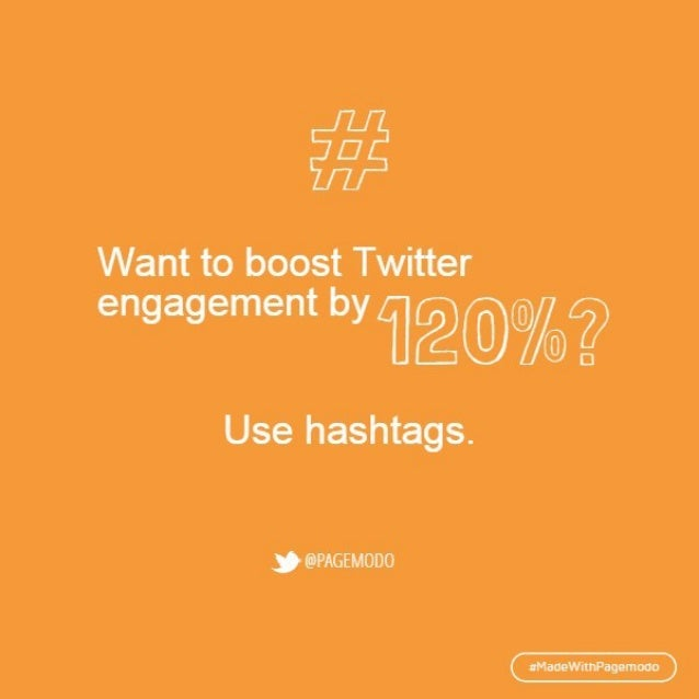 #  Want to boost Twitter  engagement by [U   Use hashtags.    opnowooo