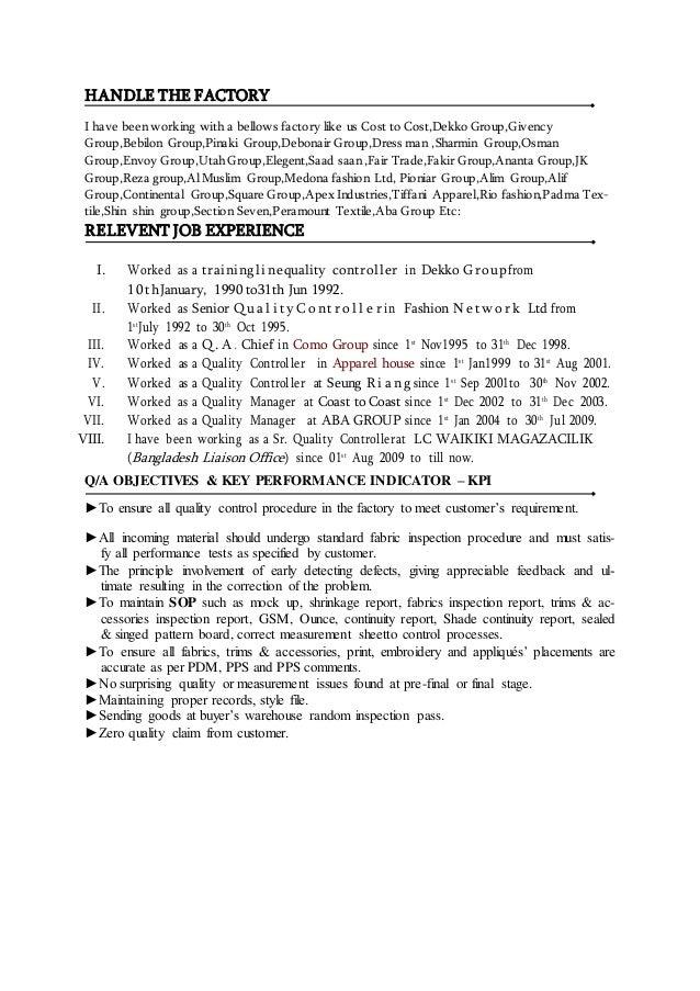 Resume Of T M Jahangir