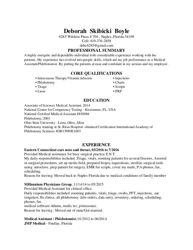 Deborah Skibicki Boyle Resume In Windows20