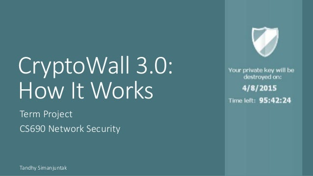 CryptoWall 3.0: How It Works Term Project CS690 Network Security Tandhy Simanjuntak
