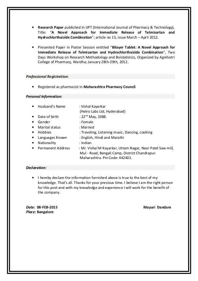 mayuri resume