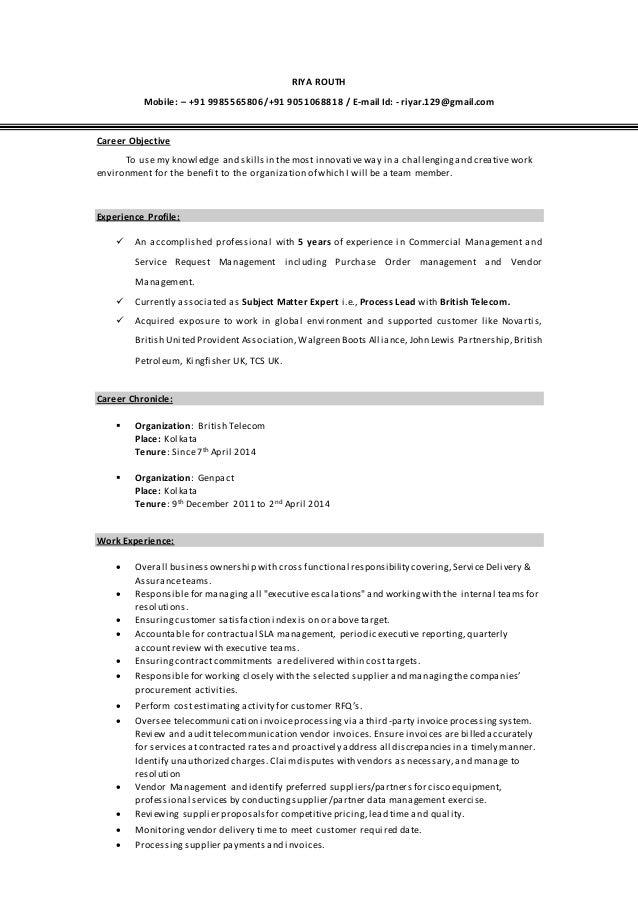 Resume TPCA
