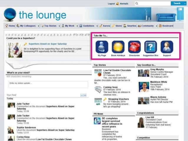 31 intranet homepage design examples, with screenshots