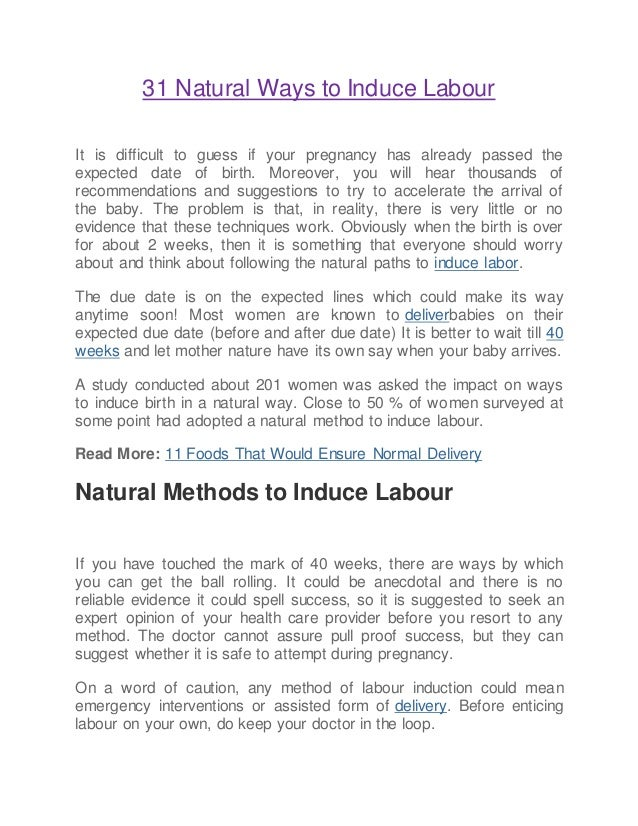 31 natural ways to induce labour